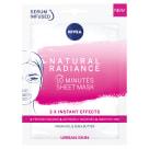 NIVEA Urban Skin 10-minutowa maska w płachcie naturalny blask 28 ml 1szt