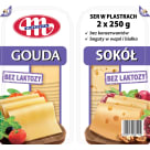 MLEKOVITA Ser Gouda i Sokół plastry 2x250g 500g