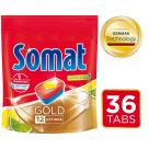 SOMAT Gold Tabletki do mycia naczyń w zmywarkach Lemon & Lime 36 szt. 691g