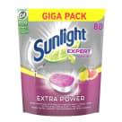 SUNLIGHT Expert Extra Power Tabletki do zmywarki o zapachu cytrynowym 80 szt 1.4kg