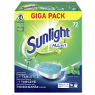 SUNLIGHT ALL IN 1 Tabletki do zmywarki 72 szt 1.26 kg