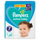 PAMPERS Active Baby Pieluchy Rozmiar 7 (15+ kg) 40 szt 1szt