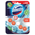 DOMESTOS Power 5 Kostka toaletowa o zapachu limonki i drzewa cedrowego 1x55g 55g