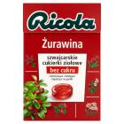 RICOLA Cukierki ziołowe - Żurawina 40g