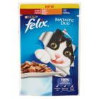 PURINA FELIX Fantastic Pokarm dla kotów - Duo z wołowiną i drobiem w galaretce 100g