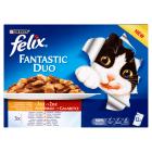 PURINA FELIX Fantastic Pokarm dla kotów - Duo Wiejskie smaki w galaretce (12 saszetek) 1.2kg