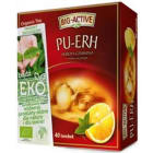 BIG-ACTIVE PU-ERH Herbata czerwona o smaku cytrynowym 40 torebek BIO 72g