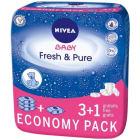 NIVEA Baby Chusteczki Pure&Fresh 4x63szt  3 OPAKOWANIA + 1 GRATIS! 1szt