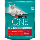 PURINA ONE Sterilcat Pokarm dla kotów bogaty w wołowinę i pszenicę 800g