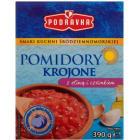 PODRAVKA Pomidory krojone z oliwą i czosnkiem 390g