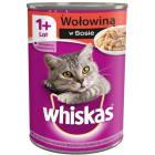 WHISKAS ADULT Karma dla kotów z wołowiną w sosie - puszka 400g