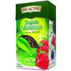 BIG-ACTIVE Herbata zielona liściasta z owocem maliny 100g