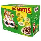 KITEKAT Pokarm dla kotów w sosie - zestaw saszetek 10szt + 2szt GRATIS 1szt