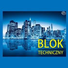INTERDRUK Blok techniczny A4 biały 10 kartek 1szt