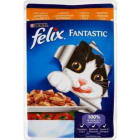 PURINA FELIX Fantastic Pokarm dla kotów z kurczakiem i pomidorami - saszetka 100g