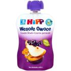 HIPP Wesołe Owoce Mus owocowy Gruszki-Śliwki-Czarne Porzeczki - po 1 roku BIO 90g