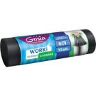 GOSIA Worki na śmieci z taśmą 60l 10 szt. 1szt