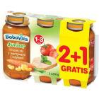 BOBOVITA Obiadek Junior 2+1Gratis Kluseczki z warzywami i indykiem 1-3 lata 3x250g 750g
