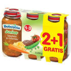 BOBOVITA Obiadek Junior 2+1Gratis Spaghetti po bolońsku 1-3 lata 3x250g 750g