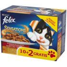 PURINA FELIX Sensations Pełnoporcjowa karma dla dorosłych kotów MIX 12 saszetek 1.2kg