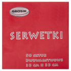 GROSIK Serwetki czerwone 33x33 50 szt. 1szt