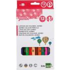 LIDERPAPEL Kredki ołówkowe 12 kolorów 1szt