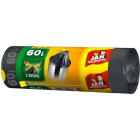 JAN NIEZBĘDNY Worki na śmieci z taśmą 60l 12 szt 1szt