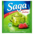 SAGA Herbata zielona z maliną 25 torebek 33g