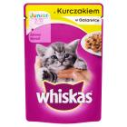 WHISKAS JUNIOR Karma dla kotów z kurczakiem w galaretce 100g