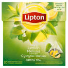 LIPTON Green Tea Herbata zielona z cytryną i melissą 20 torebek 32g