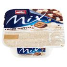 MULLER Mix Jogurt o smaku śmietankowym z wafelkami w czekoladzie 150g