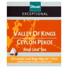 DILMAH Exceptional Herbata czarna Valley of Kings Ceylon Pekoe 20 torebek 40g