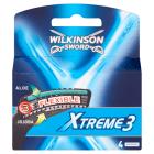 WILKINSON Xtreme 3 Wkład do maszynki - 4 szt 1szt