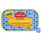 KING OSCAR Filety z makreli bez skóry w oleju o smaku cytrynowym 110g