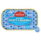 KING OSCAR Filety z makreli bez skóry w wodzie z solą morską 110g