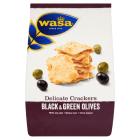 WASA Delicate Thin Crackers Krakersy z czarnymi i zielonymi oliwkami 150g