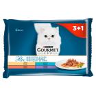 GOURMET Perle Karma dla dorosłych kotów Mini Fileciki w sosie 4 szt. 340g