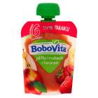 BOBOVITA 100% SMAKU Jabłka i truskawki z bananem po 6 miesiącu (tubka) 80g