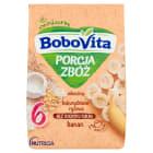 BOBOVITA Porcja Zbóż Kaszka mleczna kukurydziano-ryżowa bananowa - po 6 miesiącu 210g