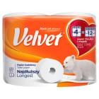 VELVET Classic Najdłuższy Papier toaletowy biały 4 długie rolki 1szt