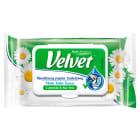VELVET Naturalnie Pielęgnujący Nawilżany Papier toaletowy Rumianek&Aloes 42 szt 1szt