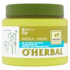 O`HERBAL Maska do włosów suchych i zniszczonych z ekstraktem z lnu 500ml