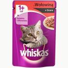 WHISKAS Karma dla kotów z wołowiną w sosie - saszetka 100g