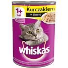 WHISKAS ADULT Karma dla kotów z kurczakiem w sosie - puszka 400g