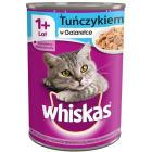 WHISKAS ADULT Karma dla kotów z tuńczykiem w galaretce - puszka 400g