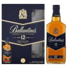 BALLANTINES 12 Y.O. Blend Szkocka Whisky + 2 szklanki 700ml