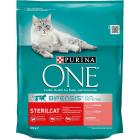 PURINA ONE Sterilcat Karma dla dorosłych kotów bogata w łososia i pszenicę 800g
