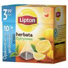 LIPTON Herbata czarna aromatyzowana Cytrynowa 10 torebek 17g