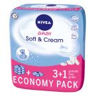NIVEA Baby Chusteczki Soft&Cream 4x63szt  3 OPAKOWANIA + 1 GRATIS! 1szt