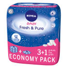 NIVEA Baby Chusteczki Pure&Fresh 4x63 szt. 3 OPAKOWANIA + 1 GRATIS! 1szt